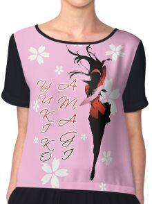 Yukiko Amagi Cherry Blossoms Chiffon Top