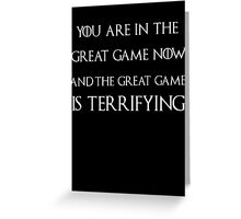 Game of thrones Tyrion Lannister the great game Greeting Card