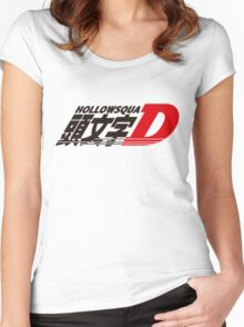 """""""Hollow Squad X Initial D"""" Logo Women's Fitted Scoop T-Shirt"""