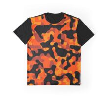 Orange Camouflage Graphic T-Shirt