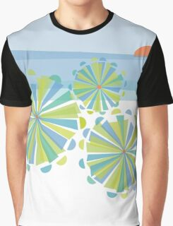 Day at the Beach - Blue Graphic T-Shirt