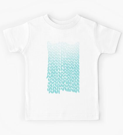 Hand Knit Ombre Teal Kids Tee