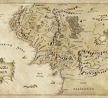 Middle Earth Map - The Lord of the Rings by augustinet