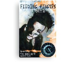 Feeding Fingers 2014 Tour Poster - Toronto, Canada - by Justin Curfman Canvas Print