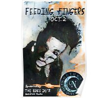 Feeding Fingers 2014 Tour Poster - Toronto, Canada - by Justin Curfman Poster