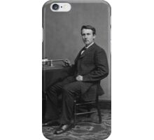 Thomas Edison and His Phonograph iPhone Case/Skin