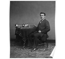 Thomas Edison and His Phonograph Poster