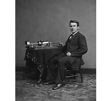Thomas Edison and His Phonograph Photographic Print