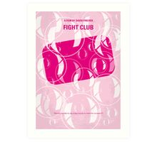 No027 My Fight Club minimal movie poster Art Print