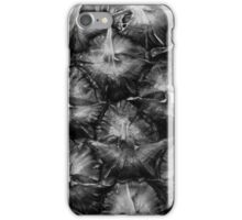 Pineapple Black and White Close Up iPhone Case/Skin