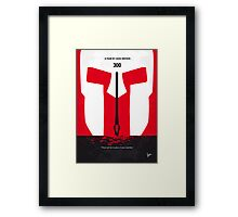 No001 My 300 minimal movie poster Framed Print