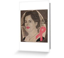 An American actress and cancer spokesperson Greeting Card