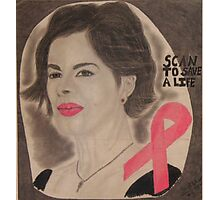 An American actress and cancer spokesperson Photographic Print