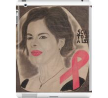 An American actress and cancer spokesperson iPad Case/Skin