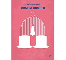 No241 My Dumb & Dumber minimal movie poster Photographic Print
