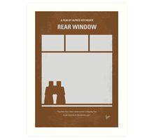 No238 My Rear window minimal movie poster Art Print