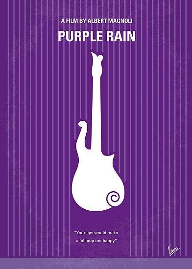 No124 My PURPLE RAIN minimal movie poster by Chungkong