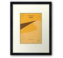 No251 My DUNE minimal movie poster Framed Print