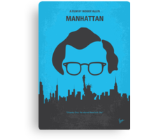 No146 My Manhattan minimal movie poster Canvas Print