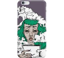 Burnout - Green haired lady covered in smoke  iPhone Case/Skin