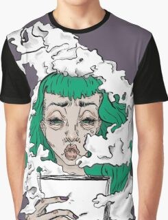 Burnout - Green haired lady covered in smoke  Graphic T-Shirt