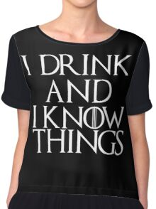Tyrion Lannister Quote Chiffon Top