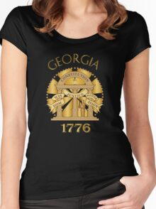 Georgia seal Women's Fitted Scoop T-Shirt