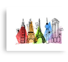 Europe - Capital Cities Canvas Print