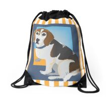 the Beagle Drawstring Bag