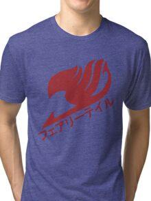 Fairy Tail Logo - Plain (Natsu Red) Tri-blend T-Shirt