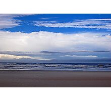 Beach and clouds Photographic Print