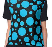 black and turquoise polka dots Chiffon Top