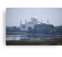 The Taj Mahal from the Old Fort Canvas Print