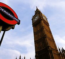 London Big Ben and Underground  by Magdalena Karwowska