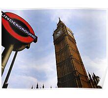 London Big Ben and Underground  Poster