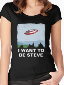 i want to be steve Women's Fitted Scoop T-Shirt