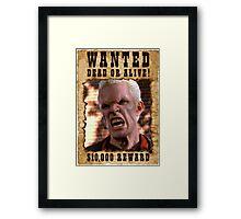 Buffy Spike Wanted 1 Framed Print