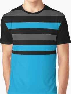 blue black and gray stripes 3 Graphic T-Shirt