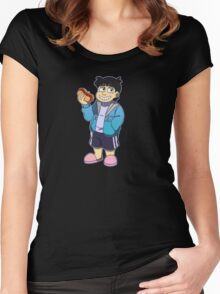 Human!Sans Women's Fitted Scoop T-Shirt