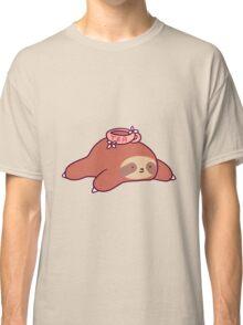 Tea Flower Sloth Classic T-Shirt