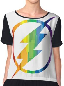 The Flash Pride Chiffon Top