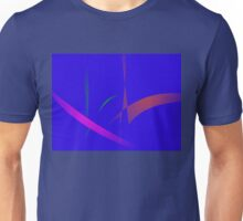 Simple Blue Abstract with Slashing Colors Unisex T-Shirt