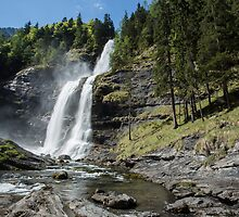 Waterfall in the French Alps by Judi Lion