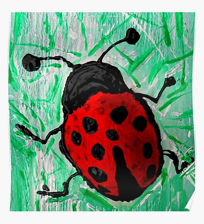 abstract ladybug Poster