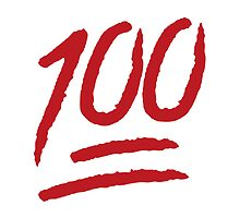 100 Emoji! (Red on White) by simon23