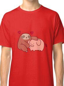 Sloth Loves Pig Classic T-Shirt