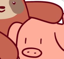 Sloth Loves Pig Sticker