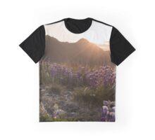 Alaskan Summer Sunset Graphic T-Shirt