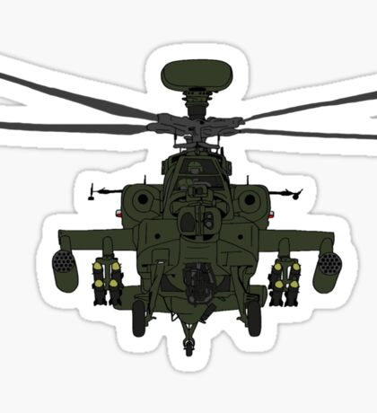 AH-64D Apache Helicopter shirt Sticker