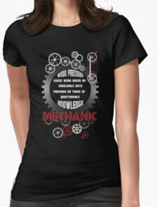Mechanic - Knowledge Womens Fitted T-Shirt